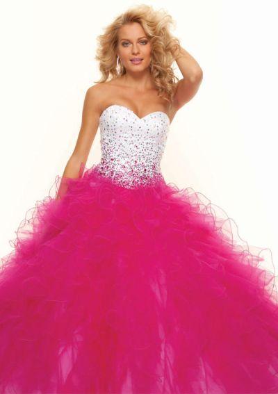 plesové šaty růžovobílé kanýrové na maturitní ples 2018 - plesové ... 94a5d884c92